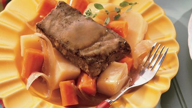 Slow-Cooked Pot Roast and Vegetables
