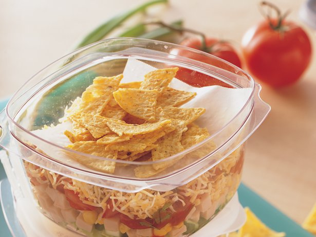 Turkey Taco Layered Salads