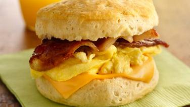 Bacon, Egg and Cheese Biscuit Sandwiches