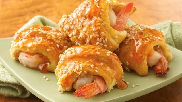 Sweet-and-Sour Shrimp Puffs
