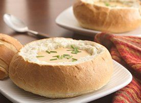 Beer-Cheese Soup in Bread Bowls recipe - from Tablespoon!