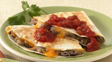 Roasted Potato-Black Bean Quesadillas