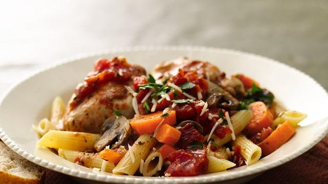 Slow Cooker Rustic Italian Chicken