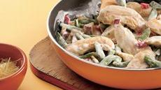 Garden Medley Alfredo Chicken Skillet Recipe