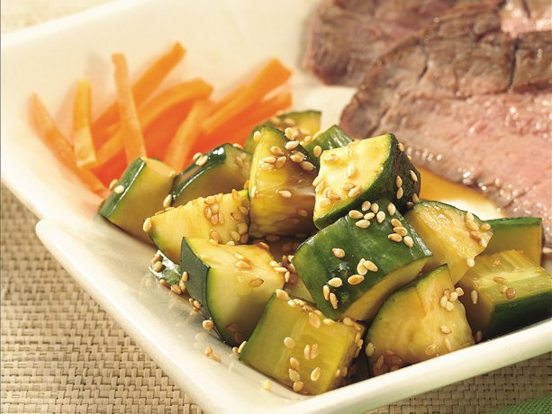 Image of Asian Cucumber-zucchini Salad, Betty Crocker