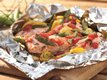 Grilled Dilled Salmon and Vegetable Packs