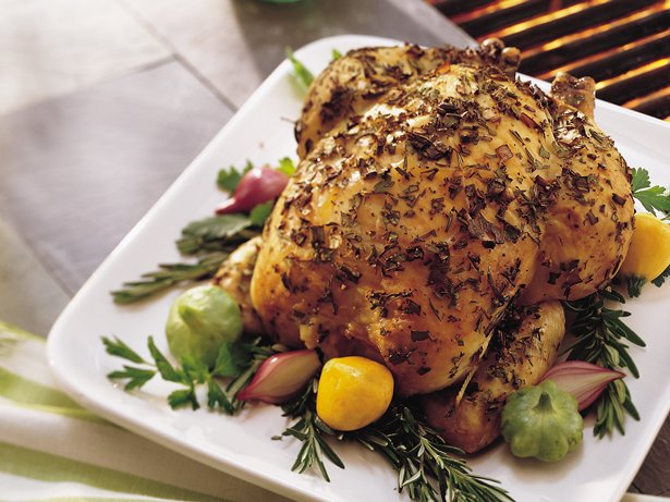 Grilled Whole Chicken with Herbs