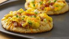 Ham, Swiss and Cheddar Breakfast Pizza Recipe