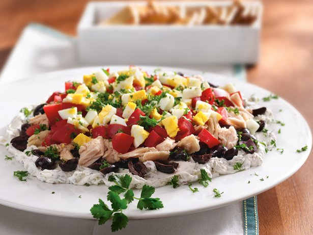 Layered Mediterranean Tuna Spread