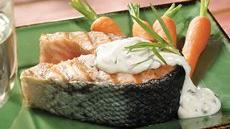 Salmon Steaks With Tarragon Sauce (Cooking for 2) Recipe