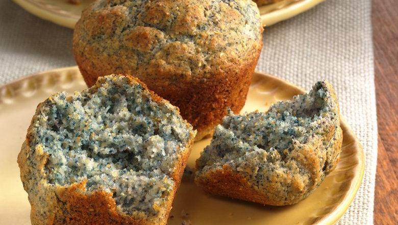 Blue Cornmeal Muffins