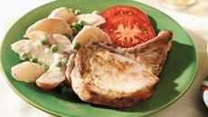 Creamy Potatoes and Pork Chops Recipe