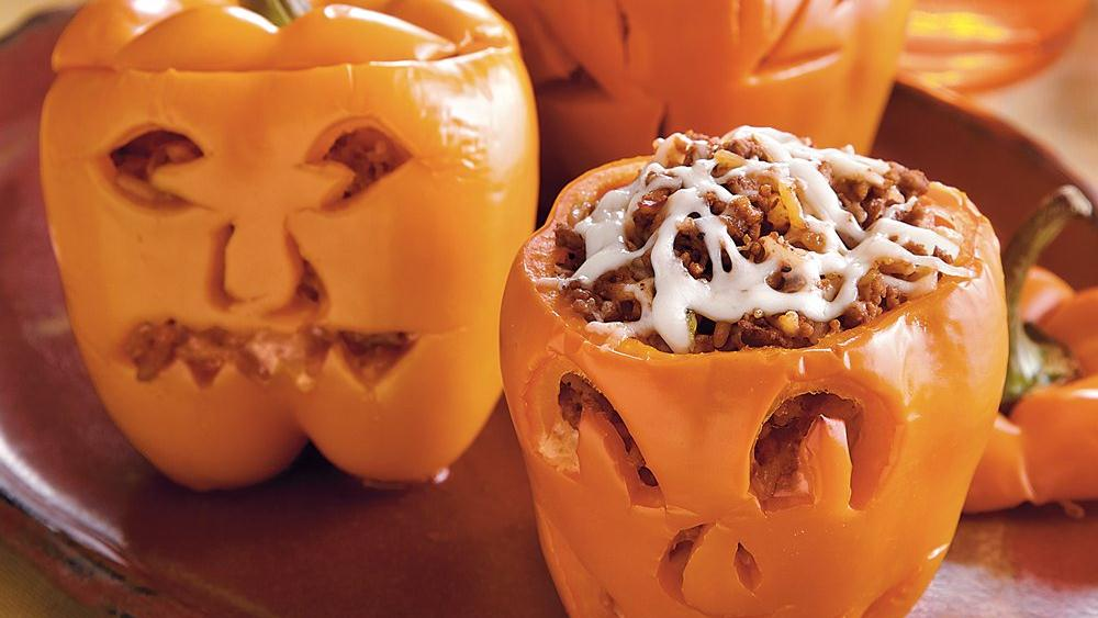 Stuffed Carved Peppers