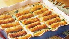 Scalloped Fish Stick Casserole Recipe