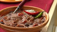 Slow Cooker Steak and Black Bean Chili Recipe