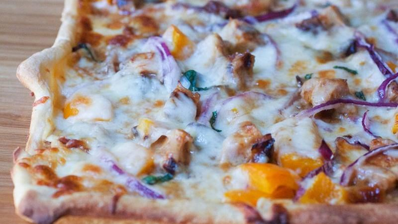 Grilled Bourbon-Chicken Pizza