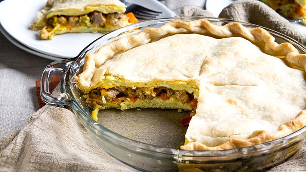 Sausage and Veggie Breakfast Pot Pie