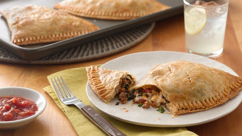 Chorizo, Spinach and Cheese Empanadas recipe from Betty Crocker