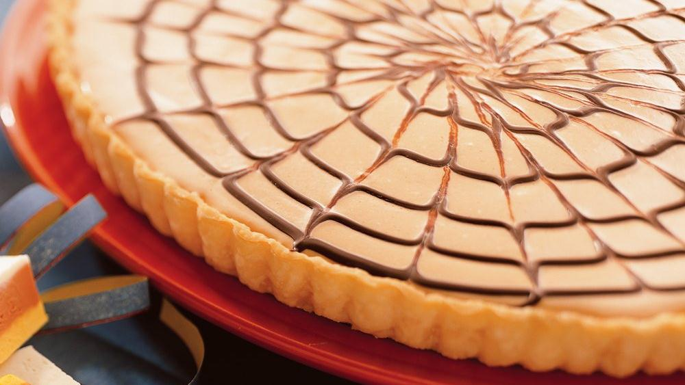 Orange Spider Web Tart