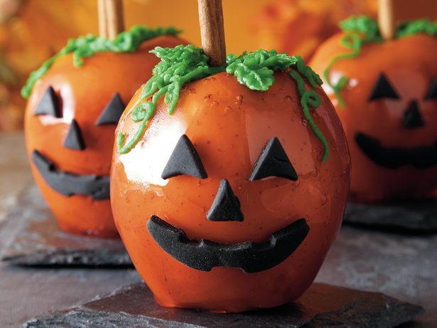 Candy Apple Jack o' Lanterns