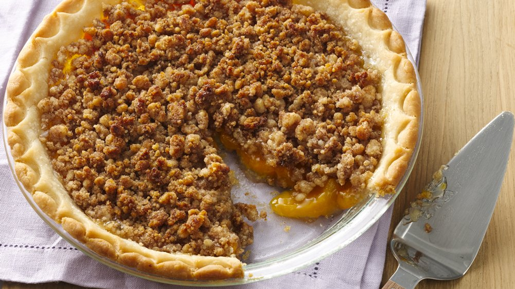 Gluten-Free Peach Crumble Pie recipe from Pillsbury.com