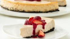 Strawberry Cheesecake with Double-Berry Sauce Recipe