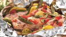 Grilled Dilled Salmon and Vegetable Packet Recipe