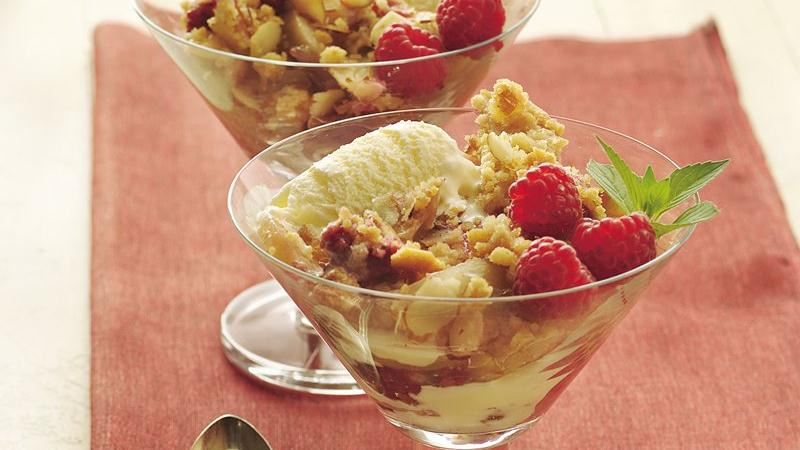 Pear and Raspberry Crisp