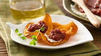 Tomato Jam with Whipped Goat Cheese Appetizer