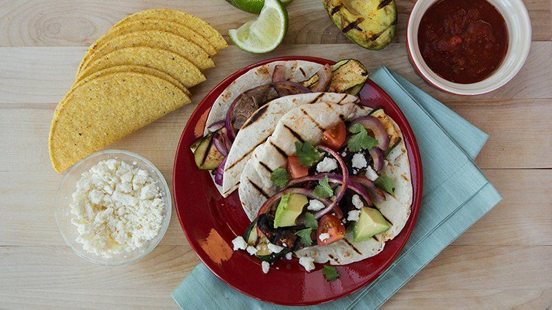 Grilled Veggie Ten Minute Tacos