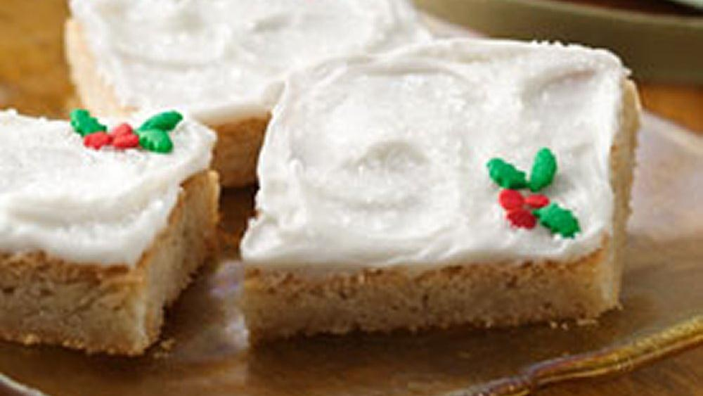 Quick holiday cookie bars recipe from for Easy quick christmas baking recipes