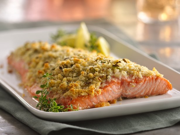 Lemon- and Parmesan-Crusted Salmon