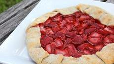 Grilled Strawberry Galette Recipe