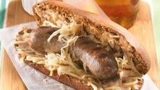 Grilled Reuben Brats Recipe