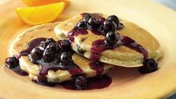 Blueberry-Orange Pancakes with Blueberry-Orange Sauce