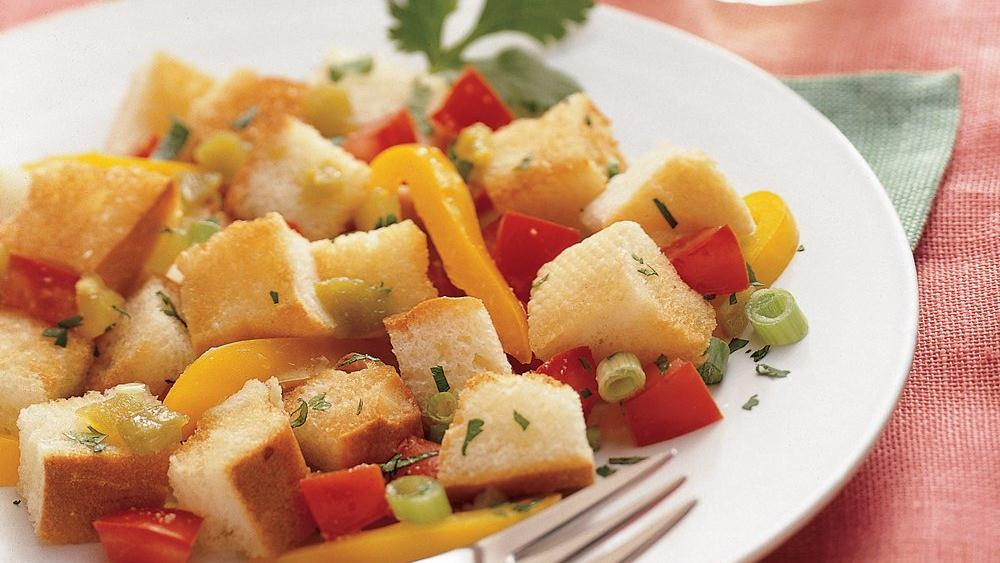 Green Chile Panzanella Salad