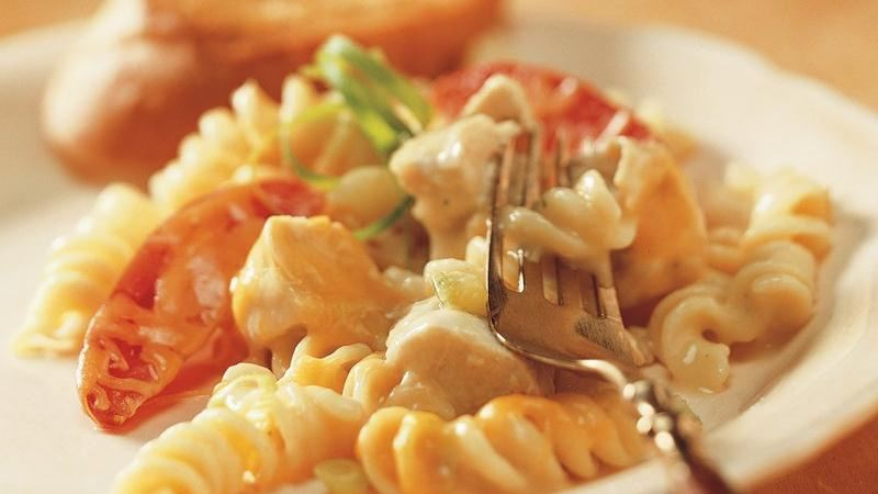 Cheesy Chicken and Rotini Casserole recipe from Betty Crocker