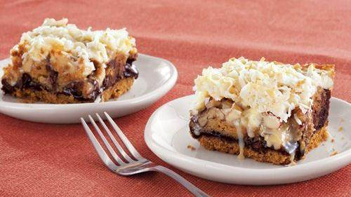 Six-Layer Brownie Bars recipe from Betty Crocker