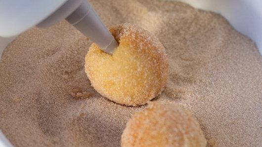 Chocolate-Caramel-Stuffed Doughnut Holes recipe from Pillsbury.com
