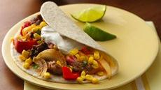 Steak Fajitas with Tomato-Corn Relish Recipe