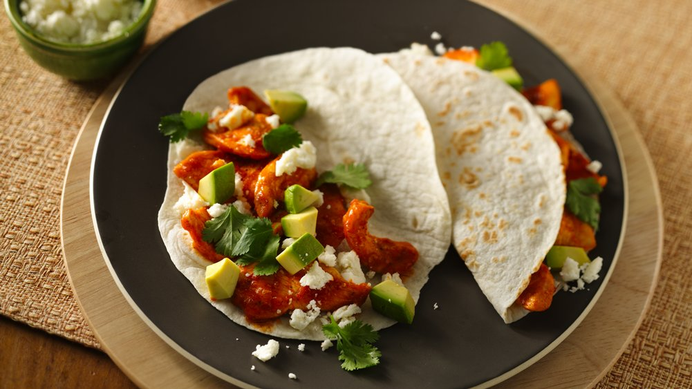 Roasted Tomato Chicken Tacos