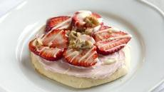 Strawberry Cheesecake Flatbreads with White Chocolate Recipe