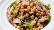 Chick Pea, Salmon and Arugula Salad Recipe