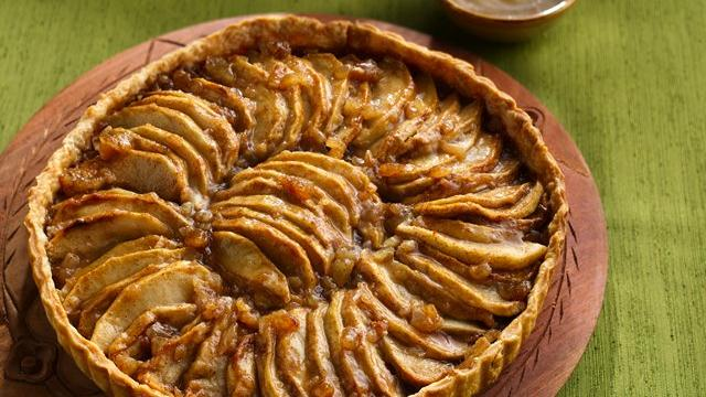 Image of Apple-ginger Tart With Cider-bourbon Sauce, Pillsbury