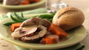 Rolled Pork Tenderloin and Sweet Potatoes for Two