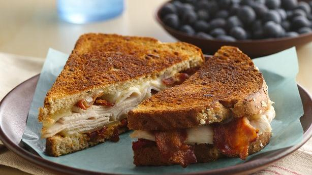 grilled turkey bacon and swiss sandwich