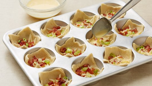 Crescent Bacon-Cheese Tartlets recipe from Pillsbury.com