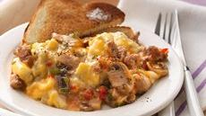 Slow Cooker Make-Ahead Sausage and Mushroom Scrambled Eggs Recipe