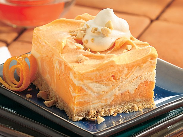 Creamy Frozen Orange Squares