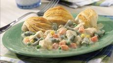 Biscuit-Topped Chicken and Vegetable Bake Recipe